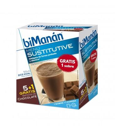 Bimanan Sustitutive Batidos Chocolate 5+1 unidades