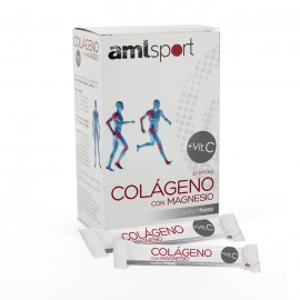 Colágeno con Magnesio Amisport Fresa 20 Stick