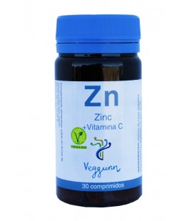 Veggunn zinc  y  vitamina c 30comp