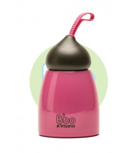 Botella bbo irisana termo 260ml rosa