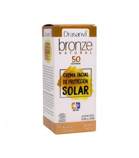Crema solar protección 50 ecocert 50ml bronze drasanvi