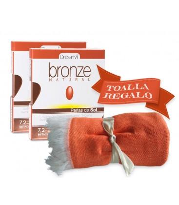 Pack bronze 60 perlas de sol + toalla gratis