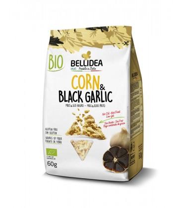 bellidea snack crujiente maiz y ajo negro 60g