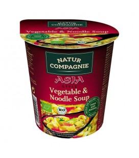 Sopa inst asia pasta y verduras bio 55g vaso