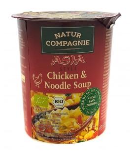 Sopa asia noodle con pollo bio 55gr vaso
