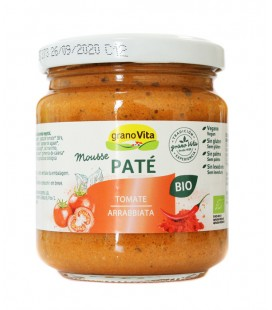 Pate mousse tomate arrabiata bio 175gr