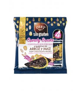 Barritas de arroz y maíz con chocolate negro sin gluten 68 gr