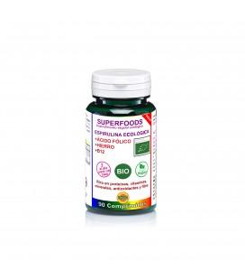 Espirulina bio con acido folico, hierro y b12 90 comp