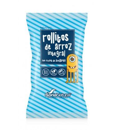 SNACK ROLLITOS DE ARROZ CACAO Y AVELLANA 3u X 8,3 gr