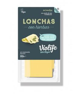 Refrig queso violife con hierbas lonchas 200 gr.