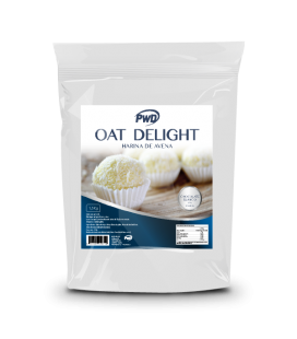 Harina de avena oat delight chocolate blaco y coco 1.5 kg