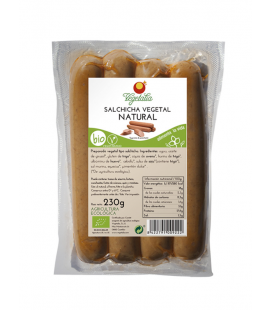 Salchicha vegetal natural bio caae 230g