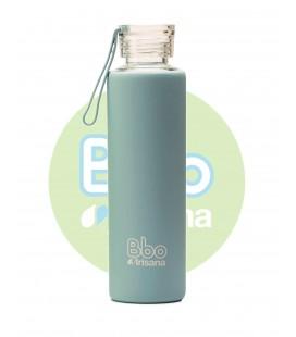 Botella bbo azul borosilicato con silicona 550 ml. irisana