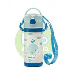 Botella bbo irisana termo infantil 320ml azul