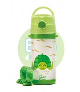 Botella bbo irisana termo infantil 320ml verde