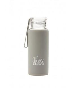 Botella bbo gris borosilicato con silicona 330 ml. irisana