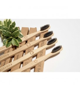 Cepillo dental irisana carbon activo bambu caja 4uds