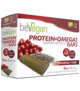 Bevegan barritas bio arandano y chia protein antioxidante(6x36 gr)
