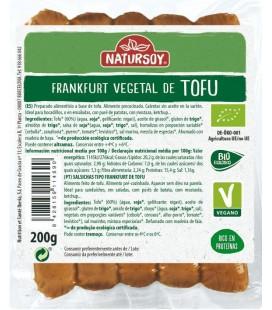 REFRIG SALCHICHA VEGETAL FRANKFURT DE TOFU BIO NATURSOY 200 G