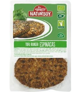 REFRIG HAMBURGUESA DE TOFU Y ESPINACAS 2 UND. 160 g Natursoy